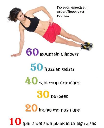 core workouts at home